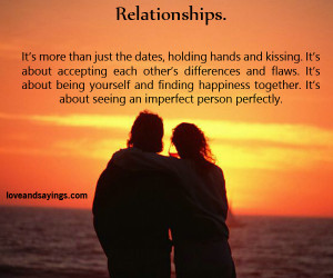 It's about Being yourself And Finding Happiness Together