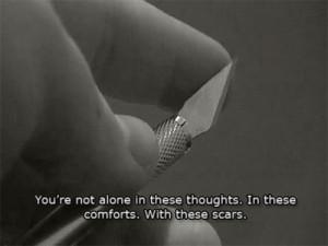 Self Injury Quotes   mine self harm cutting scars self injury razor ...