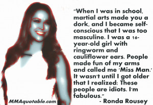 ronda rousey bullying Bullying Quotes From Famous People