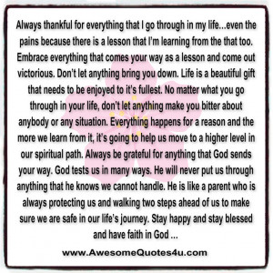 Your My Everything Quotes Always thankful for everything