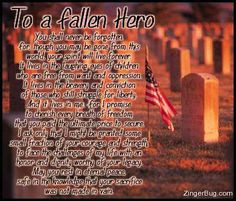 Fallen Soldiers Prayer | Tagged as well or Fallen Hero Quotes their ...