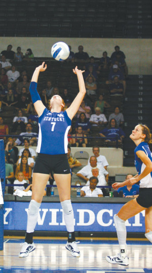 Senior setter Sarah Rumely has started every game in her career at UK ...