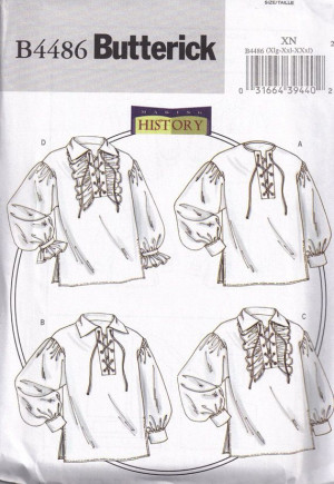 ... Sewing Pattern, Renaissance Pirates, Poets Shirts, Pirates Historical
