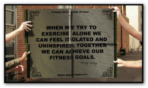 When we try to exercise alone we can feel isolated and uninspired ...