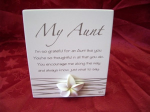 Special Aunt Sayings