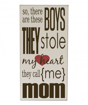 ... Boys Stole My Heart Wall Art   Daily deals for moms, babies and kids