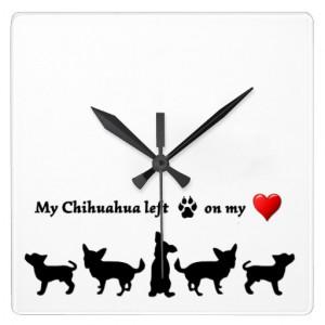 my_chihuahua_footprints_heart_love_quote_dog_pet_clock ...