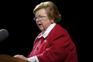 Barbara Mikulski Senator Barbara Mikulski speaks during a ceremony ...
