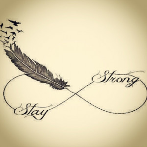 stay strong feather quote inspired quotesiliveby livemylife tattoo