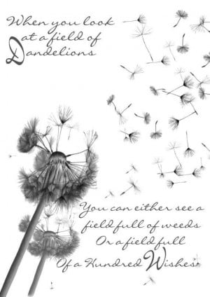 Dandelion Wishes Quote Anniversary .