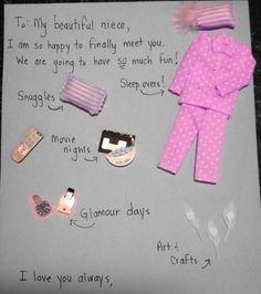To my niece... idea, birth, letter, newborn niec, beauti niec