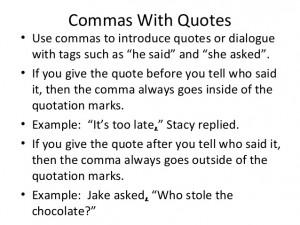 Rules For Comma Usage Duke University