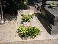 La tomba di Simone Signoret e di Yves Montand