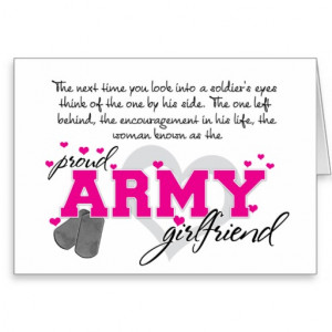 Into a Soldier's eyes - Proud Army Girlfriend Cards
