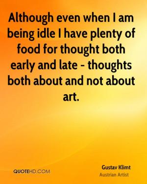 Gustav Klimt Food Quotes