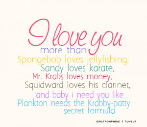 Spongebob Quotes Photo Love