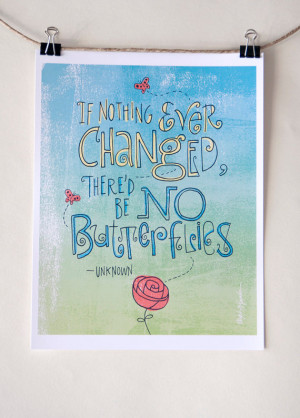 Quote by Unknown Author - Digital Print Mini Poster