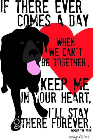 Wall Decor Black Labrador Memorial Dog Art Print