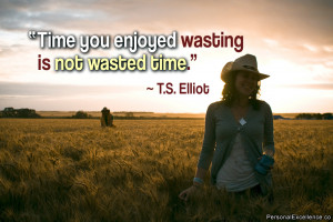Inspirational Quote Time You Enjoyed Wasting Not Wasted