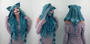 kitty cat creepy cosplay DIY makeup Alice In Wonderland Cheshire Cat ...