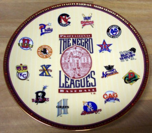 Negro League Baseball Commemorative Plate]
