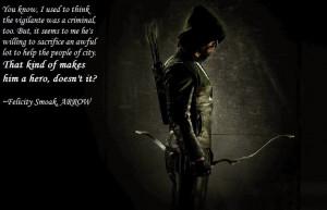 Arrow- Felicity Quote by neowolf58 on deviantART