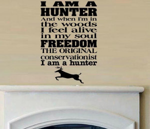 vinyl wall decal quote Hunter moto hunting by WallDecalsAndQuotes, $16 ...