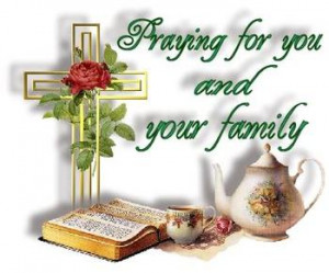 Anyone want to send prayers or condolences to a family in need?
