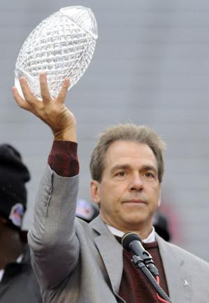 ... size (The Birmingham News/Bernard Troncale) Alabama coach Nick Saban
