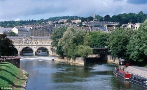Owing money: Residents in some areas of Bath (pictured) have the ...