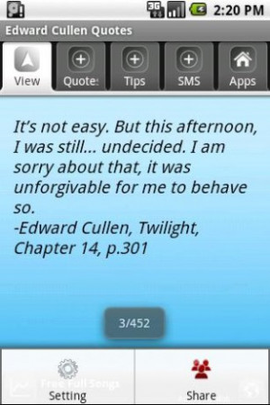 View bigger - Edward Cullen Quotes for Android screenshot