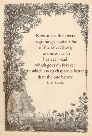 Now at last they were beginning chapter one of the great story no one ...