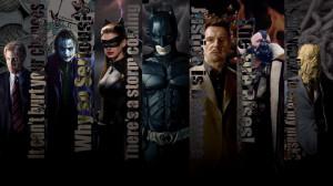 Christopher Nolan's Batman and Villain quotes Wallpaper ~Batman