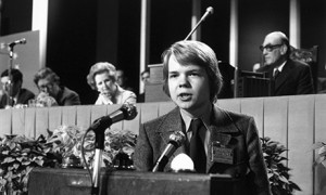 16-year-old William Hague addresses the Conservative party ...