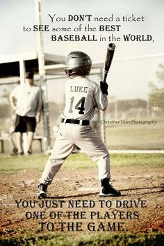 Love this picture of my son up to bat! And the quote is 100% true. My ...