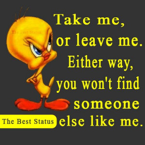 ... Me, Or Leave Me, Either Way, You Won't Find Someone Else Like Me