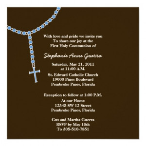 My First Rosary, First Holy Communion Invitation - Zazzle.com.au