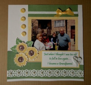 Stasia: scrapbook page I made of my parents with my niece & nephew ...
