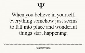 quote believing in self