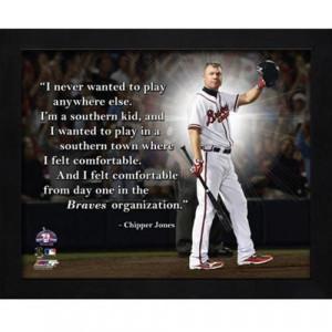 Chipper Jones Atlanta Braves Framed 11x14