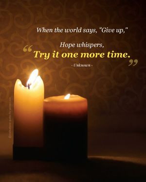 Hope quotes: When the world says,