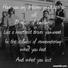 Fleetwood Mac- Dreams #FleetwoodMac #song #lyrics More