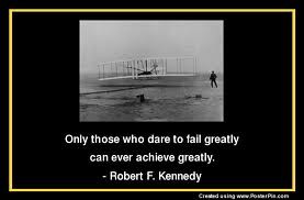 Robert F. Kennedy talking about failure leading to success
