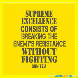 Great quote from Sun Tzu