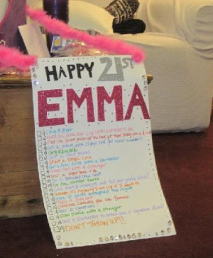 And, that was quite the feat with the birthday to-do list her good ...