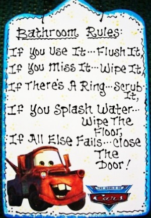 TOW MATER BATHROOM RULES