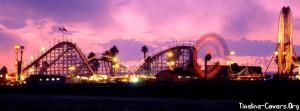 Summer Roller Coaster Facebook Cover