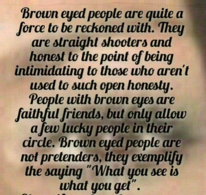 Brown eyes quote