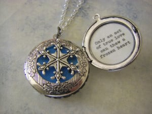 Frozen Movie Sister Quotes Silver snowflake locket frozen