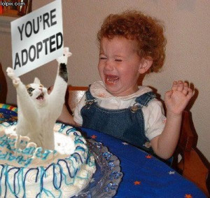 day Cake To A Kid ~ You're Adopted